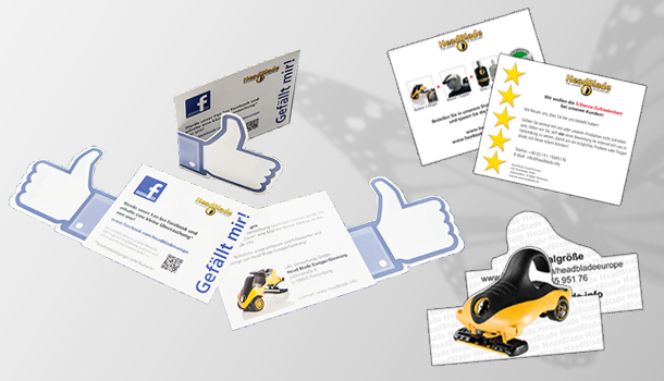 Printdesign für Headblade Europe